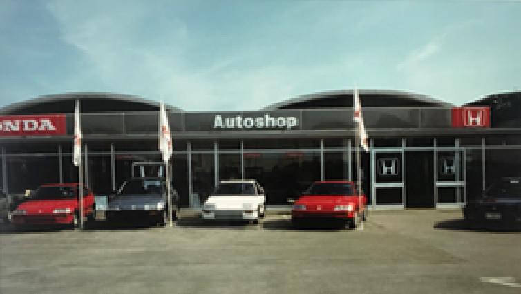 concessionaria Autoshop di Vicenza nel 1990