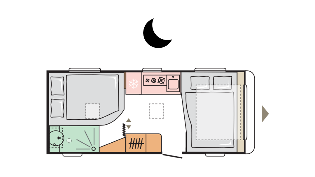 Adria Adora 522 UP - Night layout