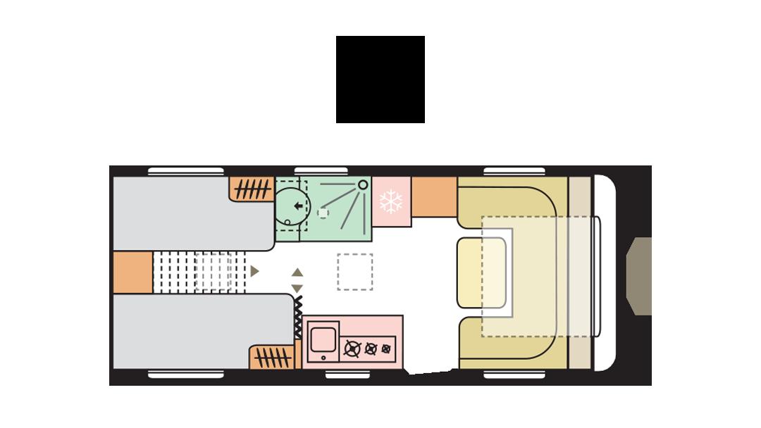 Adria Adora 542 UL - Day layout