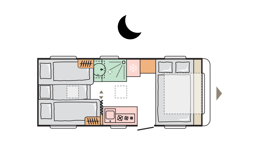 Adria Adora 542 UL - Night layout