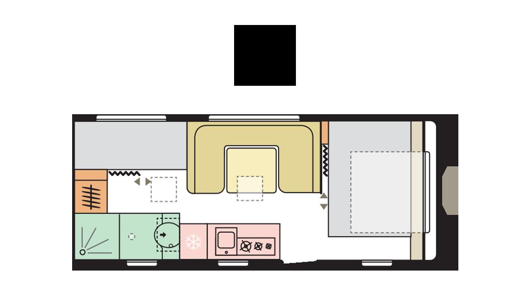 Adria Adora 573 PT - Day layout