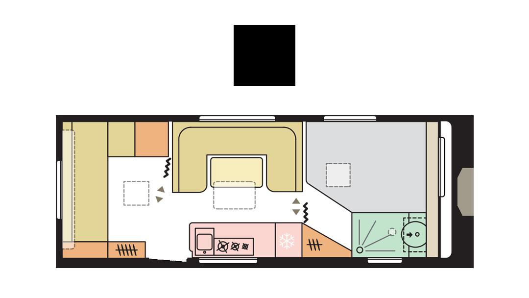 Adria Adora 613 PK - Day layout