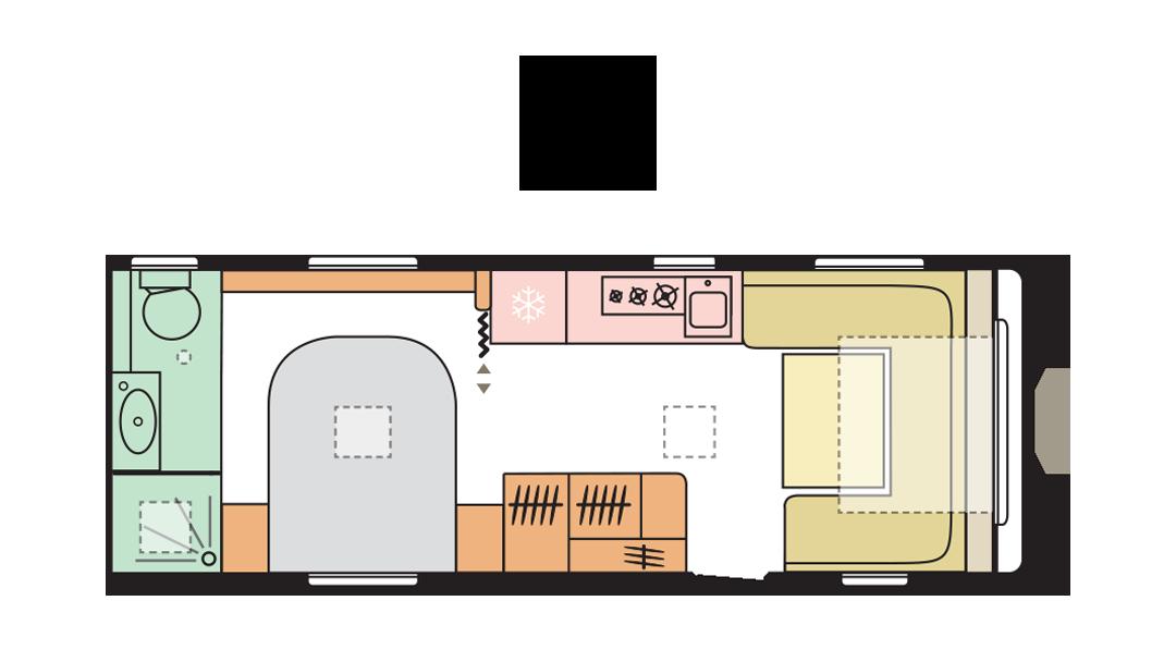 Adria Adora 613 UT - Day layout