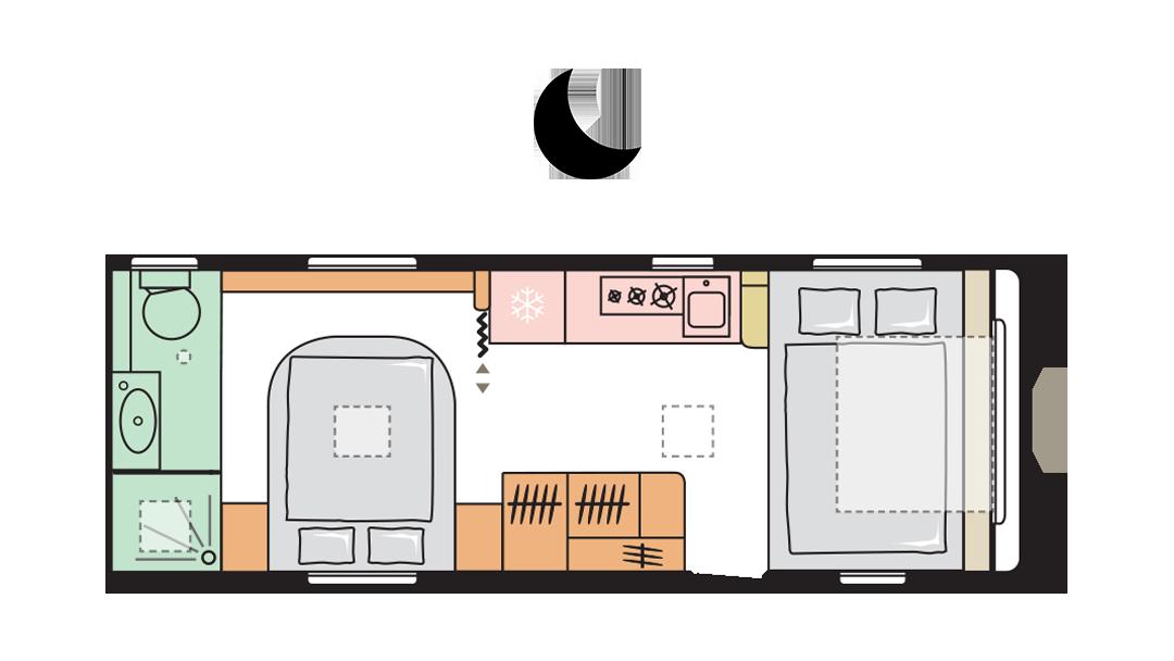 Adria Adora 613 UT - Night layout