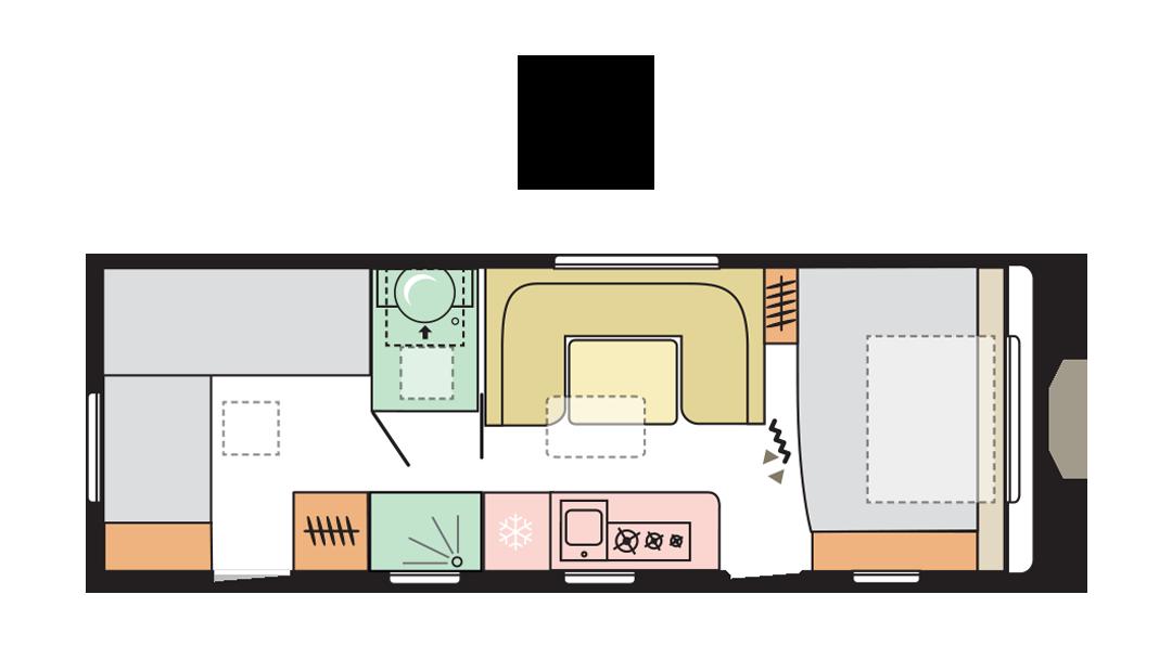 Adria Adora 673 PK - Day layout