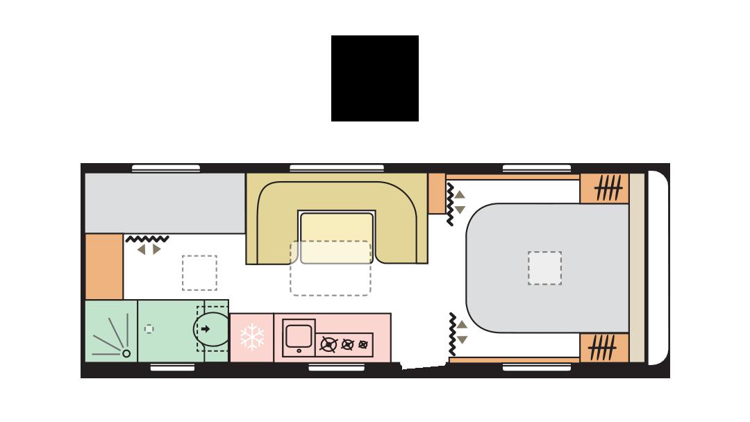 Adria Alpina 663 PT - Day layout