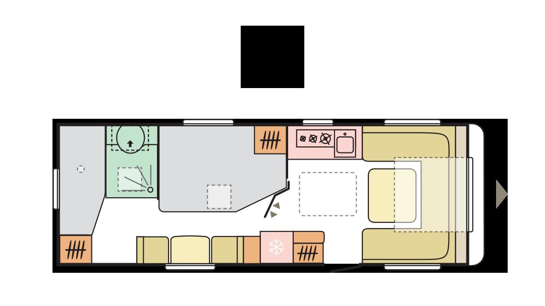 Adria Alpina 663 UK - Day layout