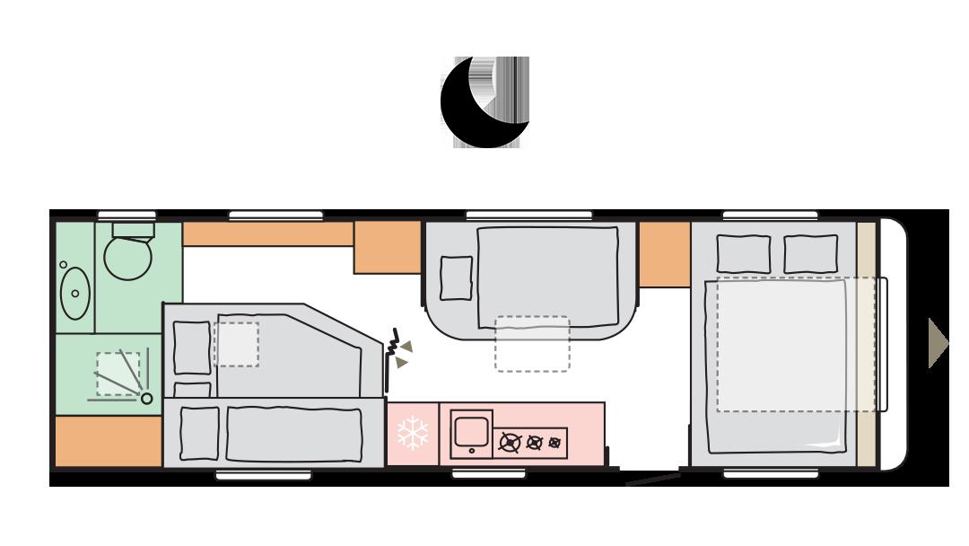 Adria Alpina 753 UP - Night layout