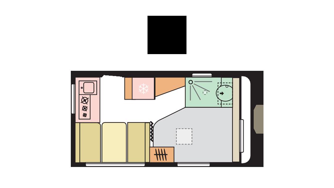 Adria Altea 402 PH day layout