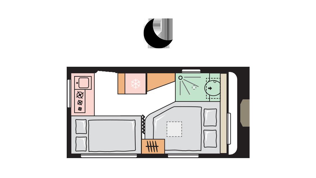 Adria Altea 402 PH night layout