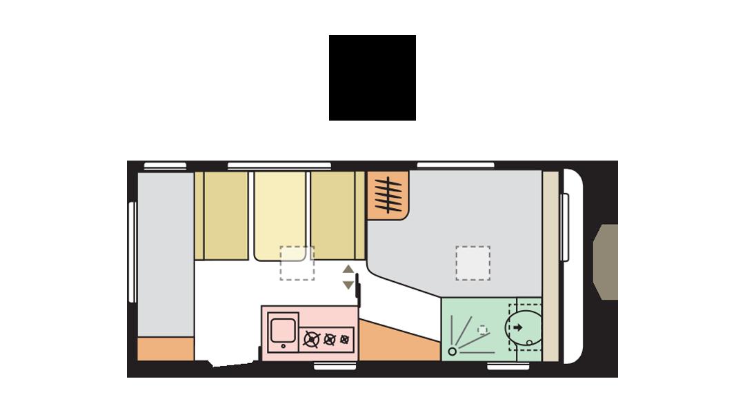 Adria Altea 472 PK day layout