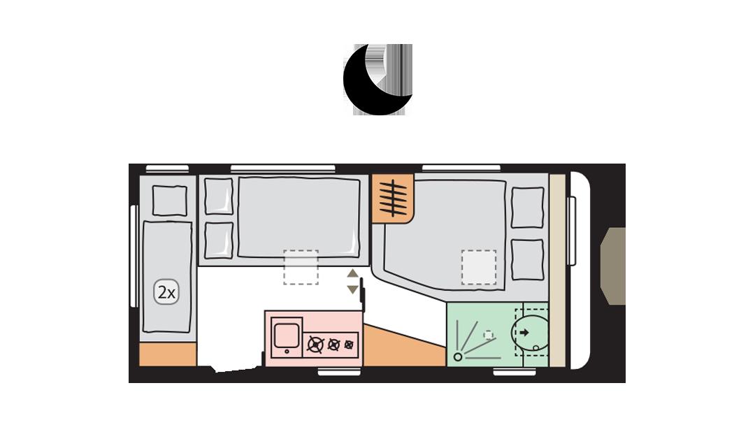 Adria Altea 472 PK night layout