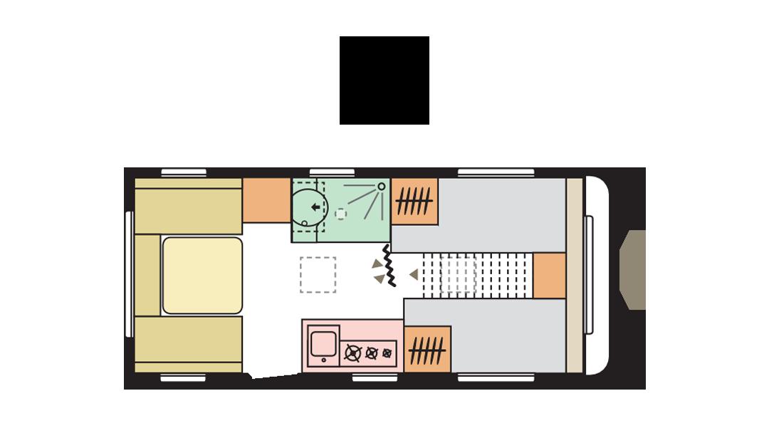 Adria Altea 492 LU day layout
