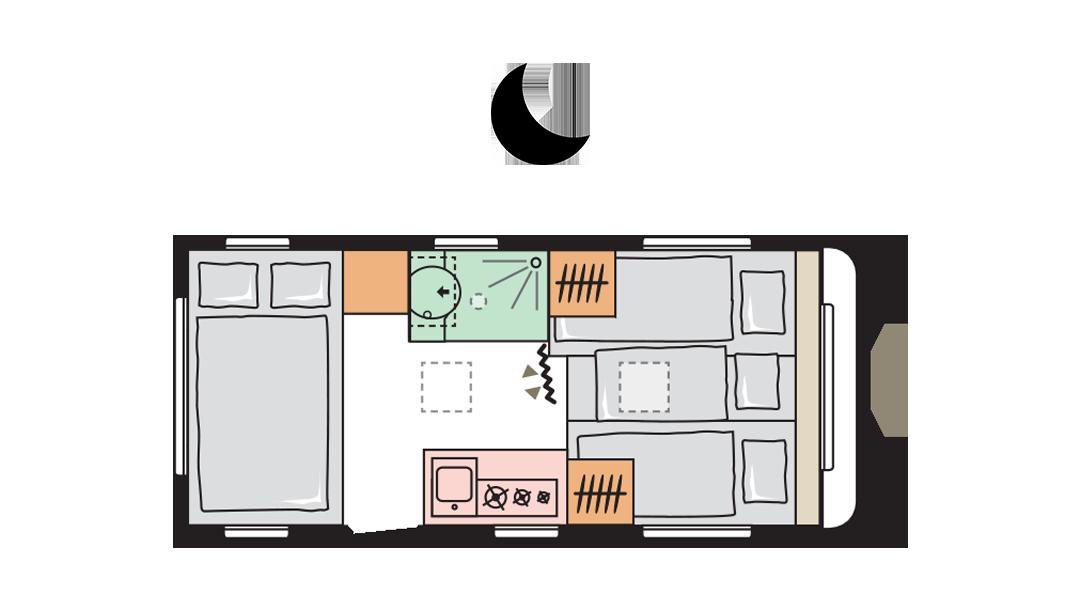 Adria Altea 492 LU night layout