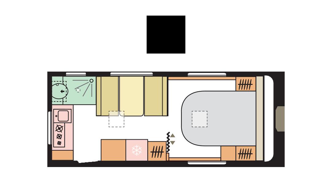 Adria Altea 542 PH day layout