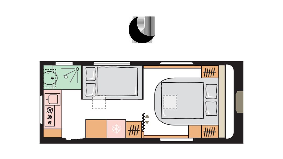 Adria Altea 542 PH night layout