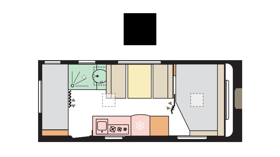 Adria Altea 542 PK day layout
