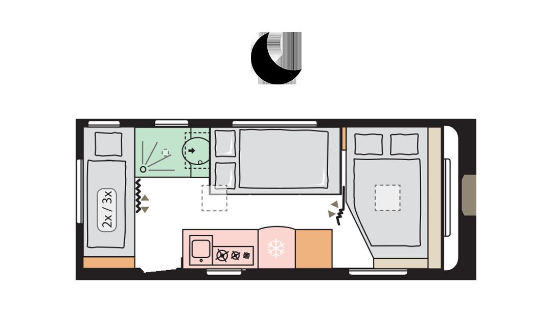 Adria Altea 542 PK night layout