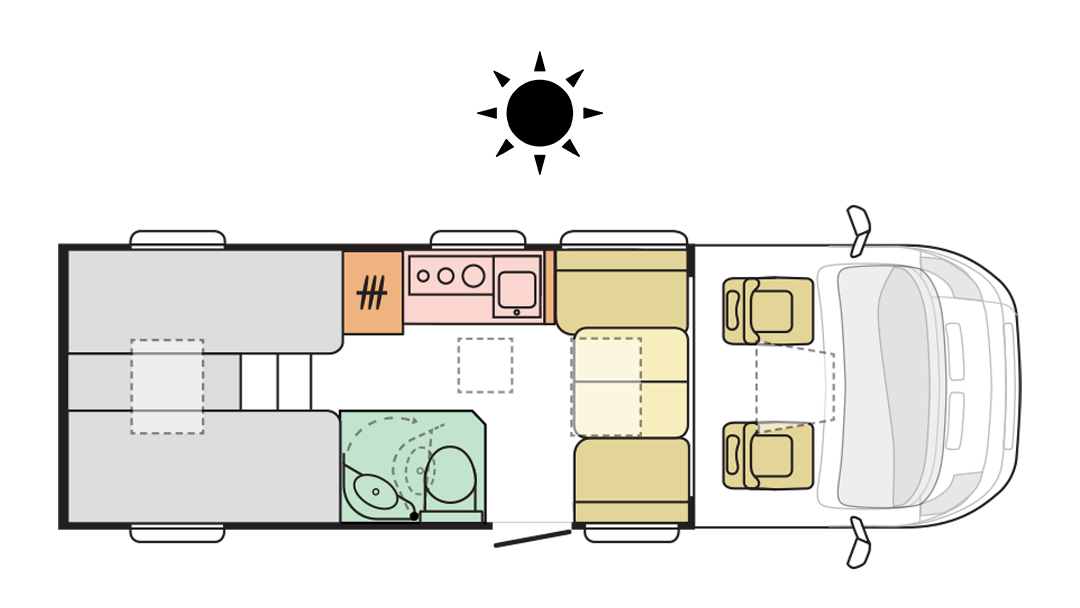 Adria Compact Axess DL - Day Layout
