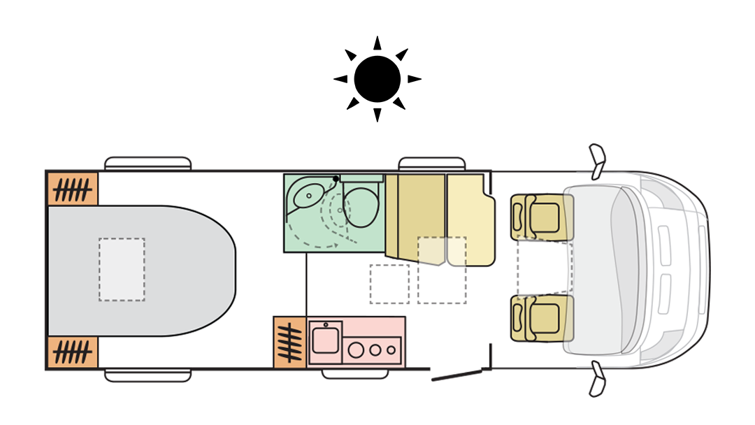 Adria Compact Axess SC - Day Layout