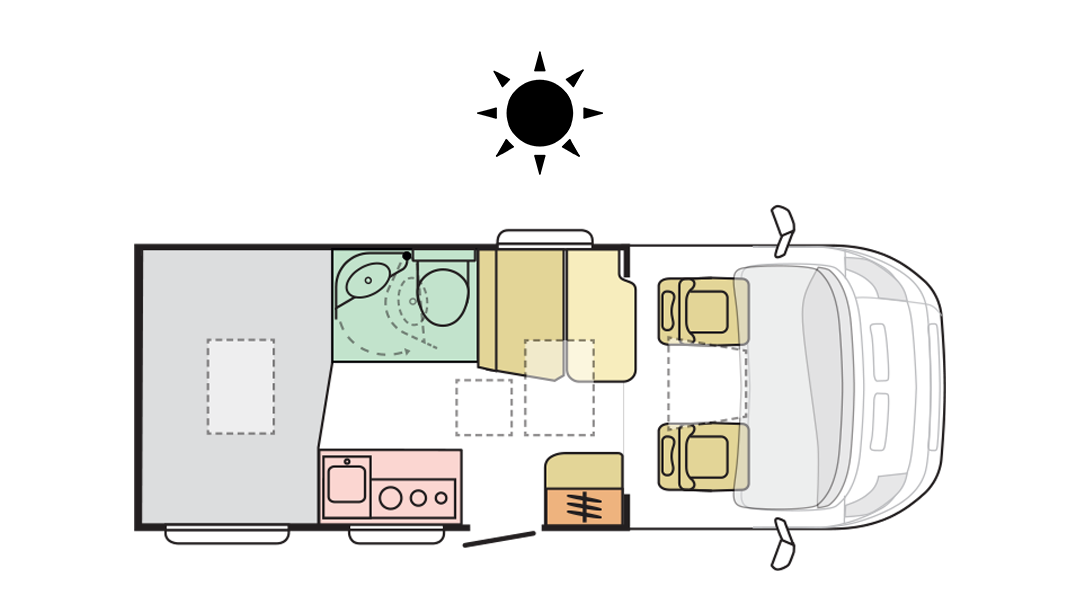 Adria Compact Axess SP - Day Layout