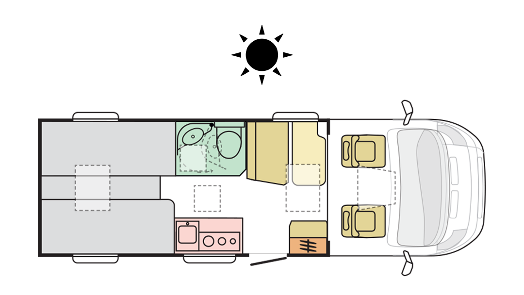 Adria Compact Plus SL - Day layout