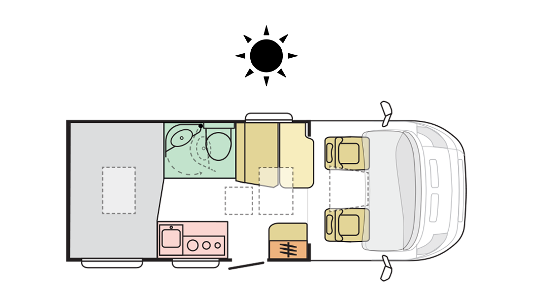 Adria Compact Plus SP - Day layout