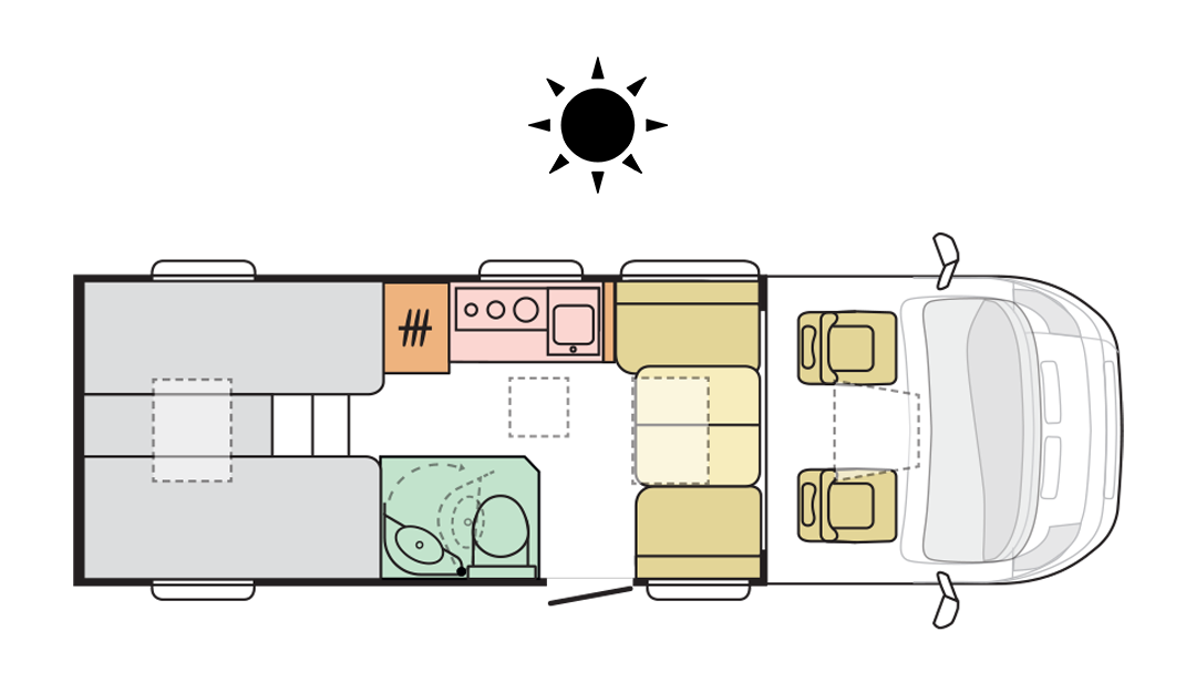 Adria Compact Supreme DL - Day layout
