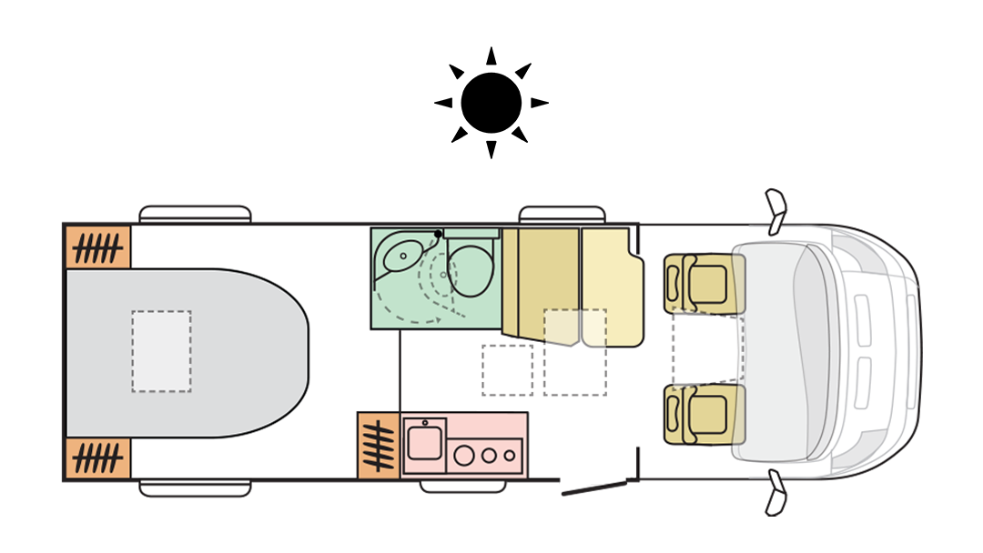 Adria Compact Supreme SC - Day layout