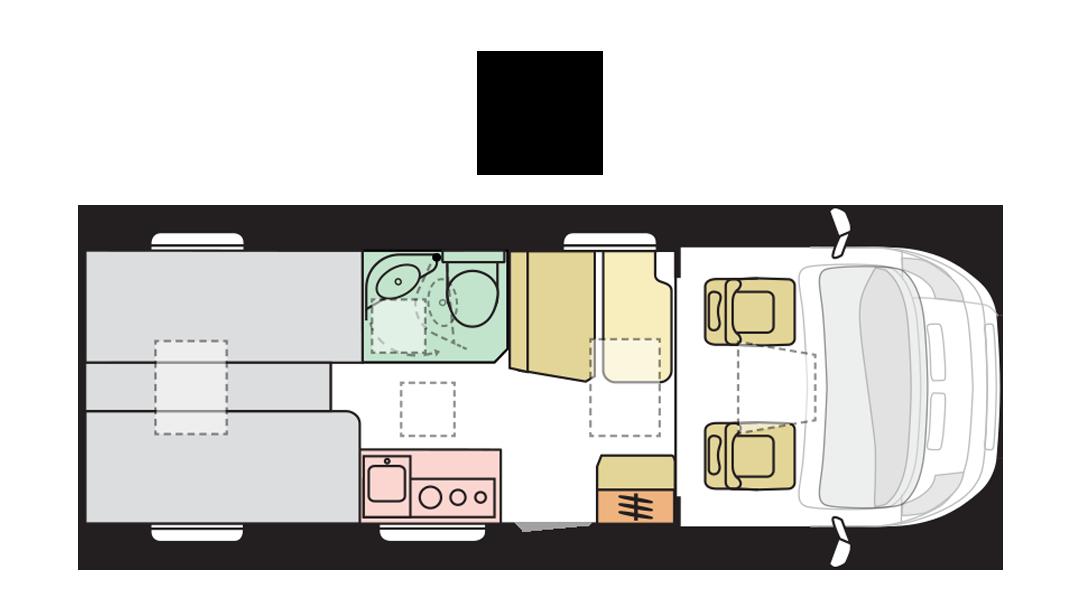 Adria Compact Supreme SL - Day layout