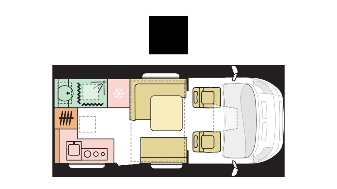 Adria Matrix Axess 520 ST - Day layout