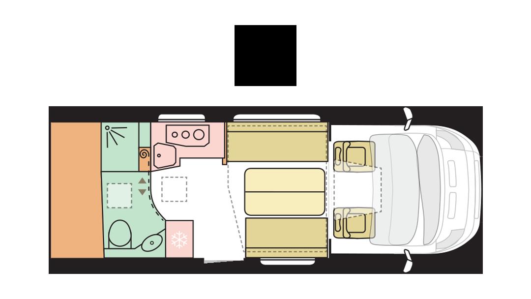 Adria Matrix Axess 600 DT - Day layout