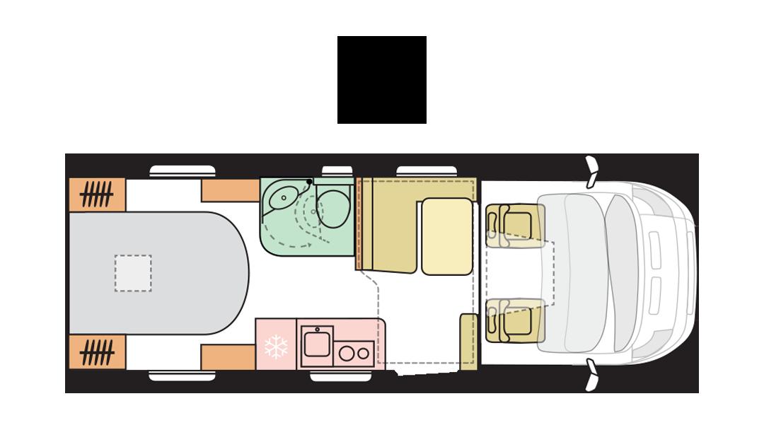 Adria Matrix Axess 600 SC - Day layout