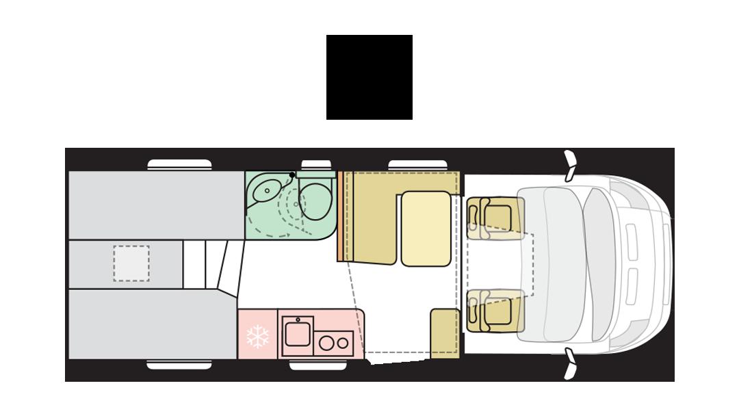 Adria Matrix Axess 600 SL - Day layout