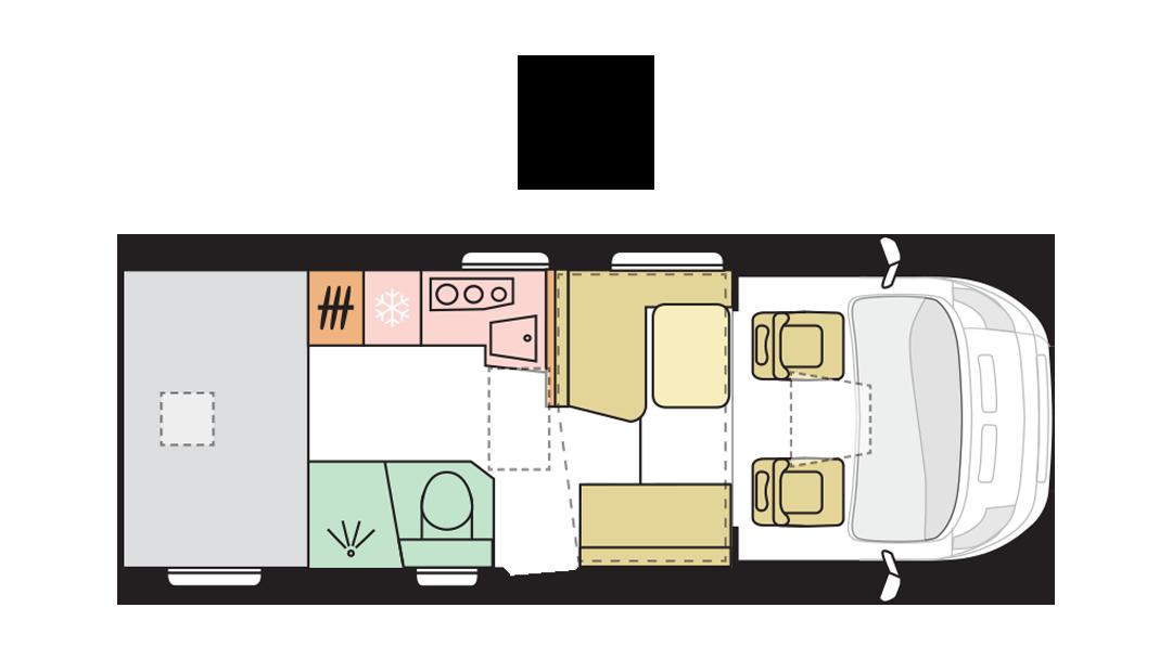 Adria Matrix Axess 600 SP - Day layout