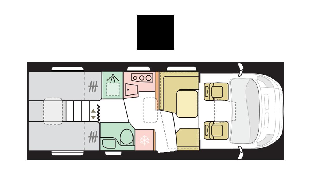 Adria Matrix Axess 670 SL - Day layout