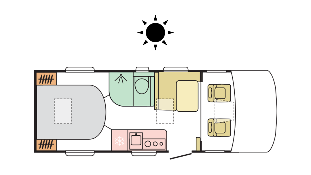 Adria Sonic Axess 600 SC - Day Layout
