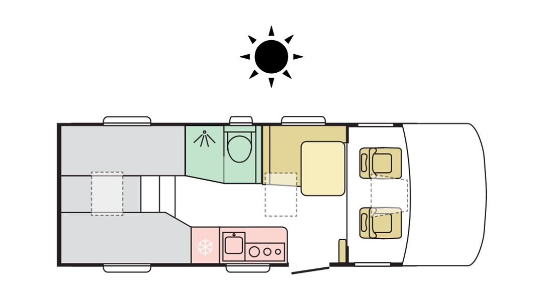 Adria Sonic Axess 600 SL - Day Layout