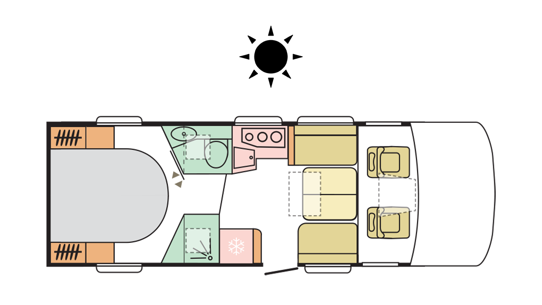 Adria Sonic Axess 700 DC - Day Layout