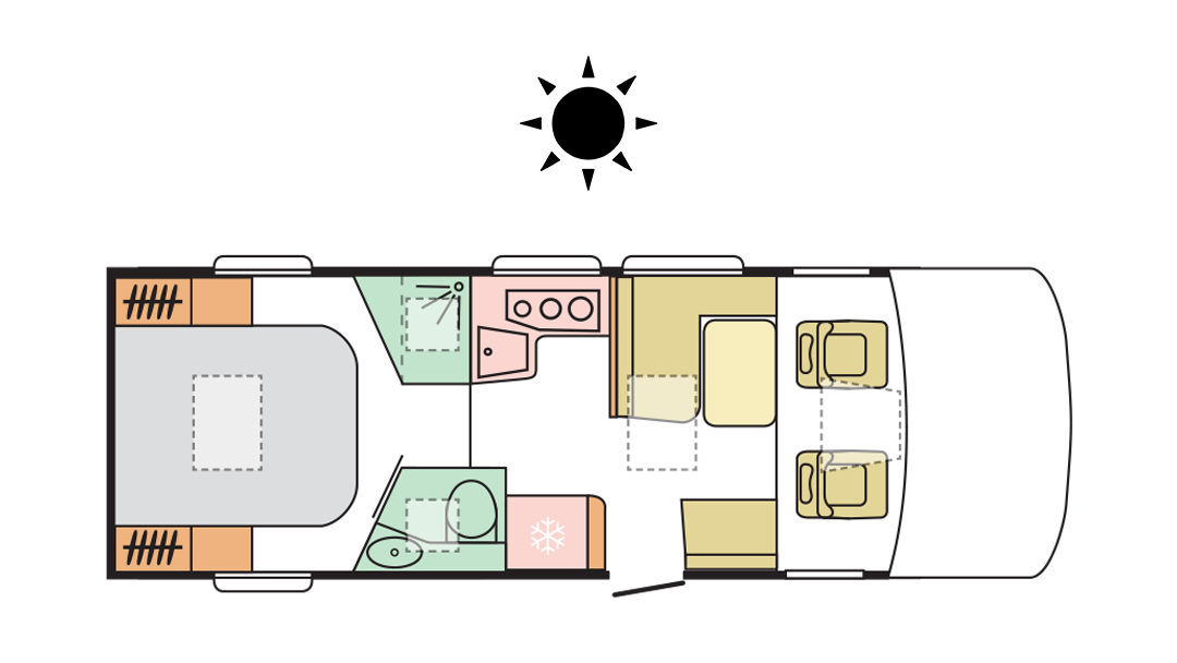 Adria Sonic Axess 700 SC - Day Layout