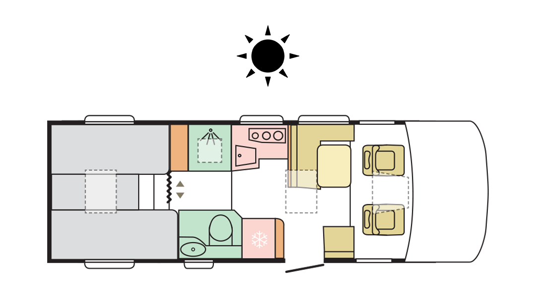 Adria Sonic Axess 700 SL - Day Layout