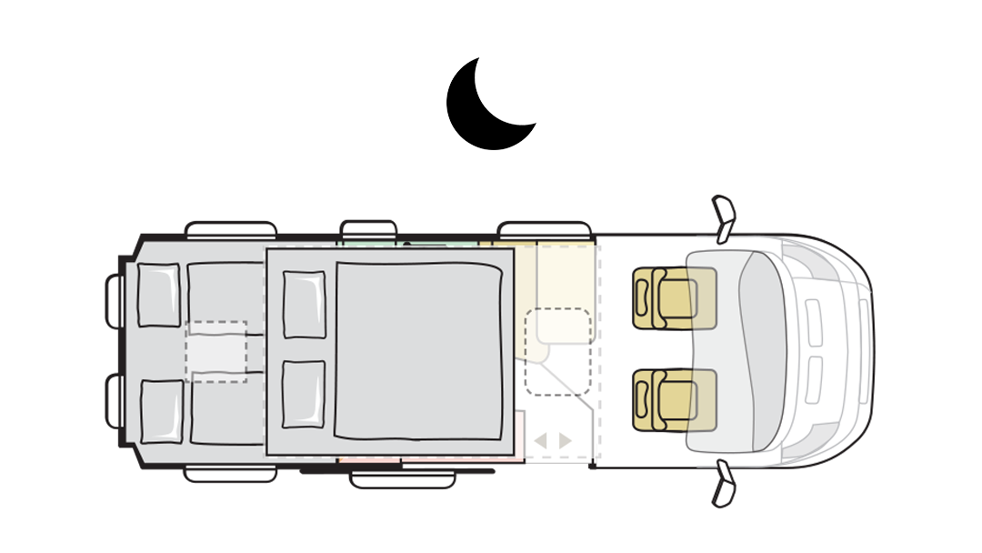 Adria Twin Sports 640 SGX - Layout notte