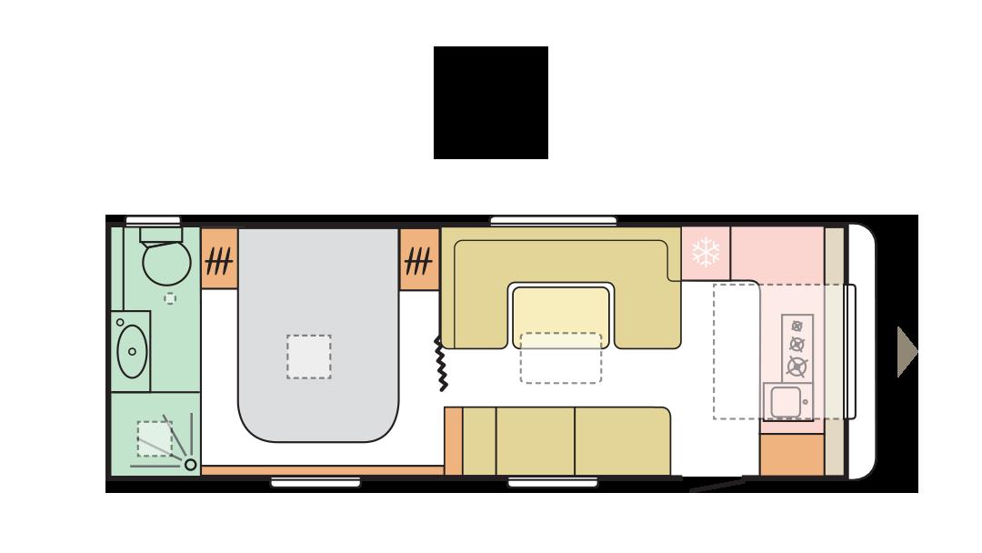 Adria Alpina 663 HT - Day Layout - 2022