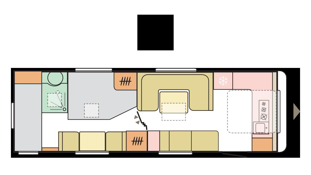 Adria Alpina 753 HK 2022 - Layout giorno