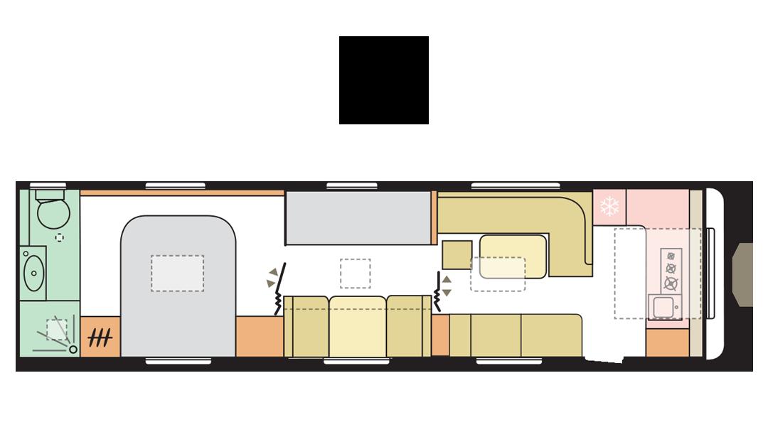 Adria Alpina 903 HT - Day Layout - 2022