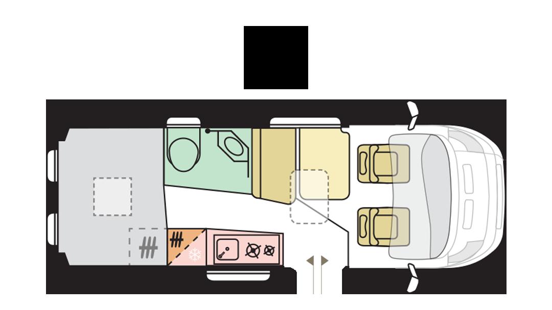 Adria Twin Supreme 600 SPB - Day layout