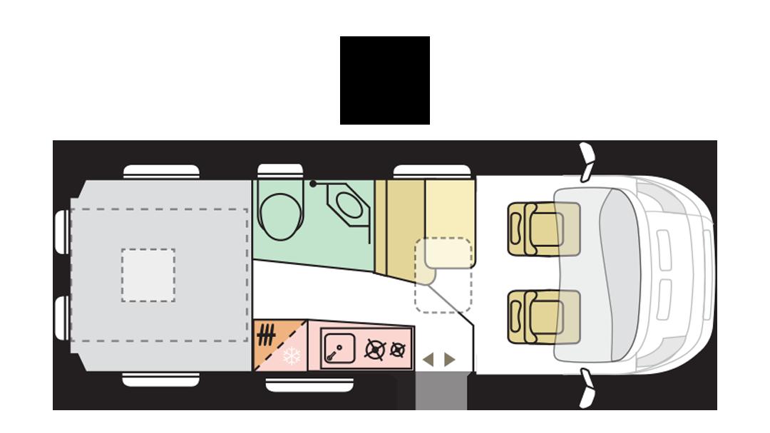 Adria Twin Supreme 640 SGX - Day layout