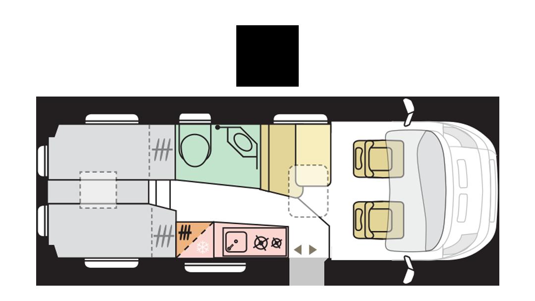 Adria Twin Supreme 640 SLB - Day layout