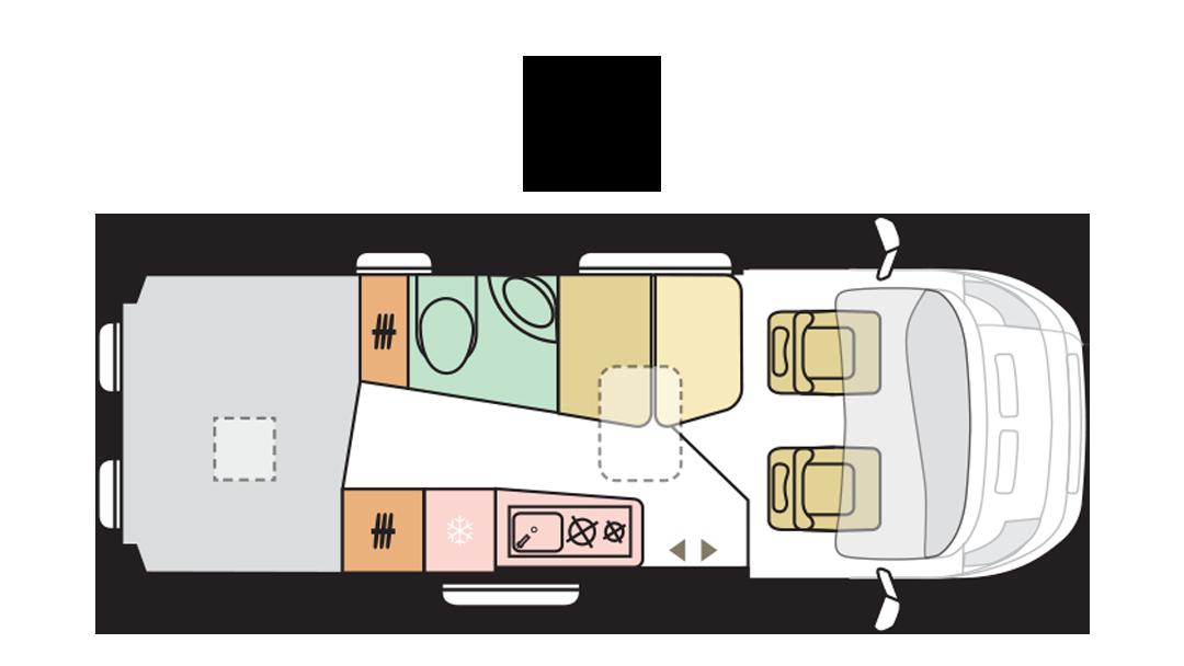 Adria Twin Supreme 640 SPB FAMILY - Day layout