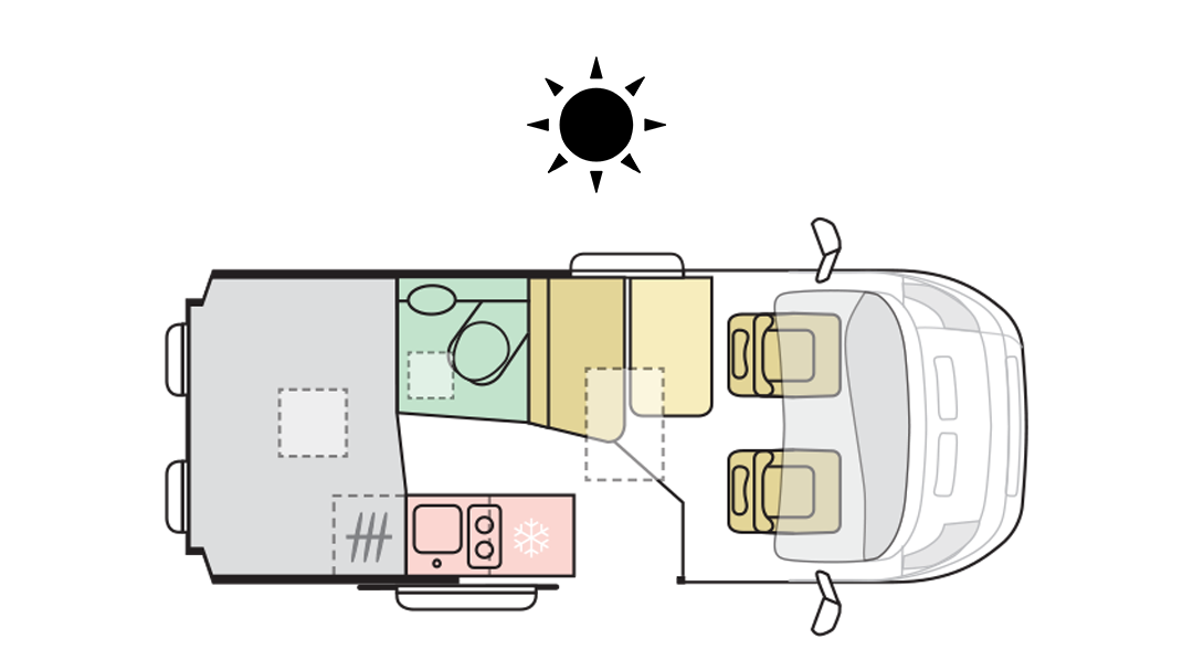 TWIN AXESS 540 SP - Day Layout